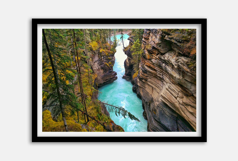 daxjustin-prints-Athabasca-Falls-Jasper-black