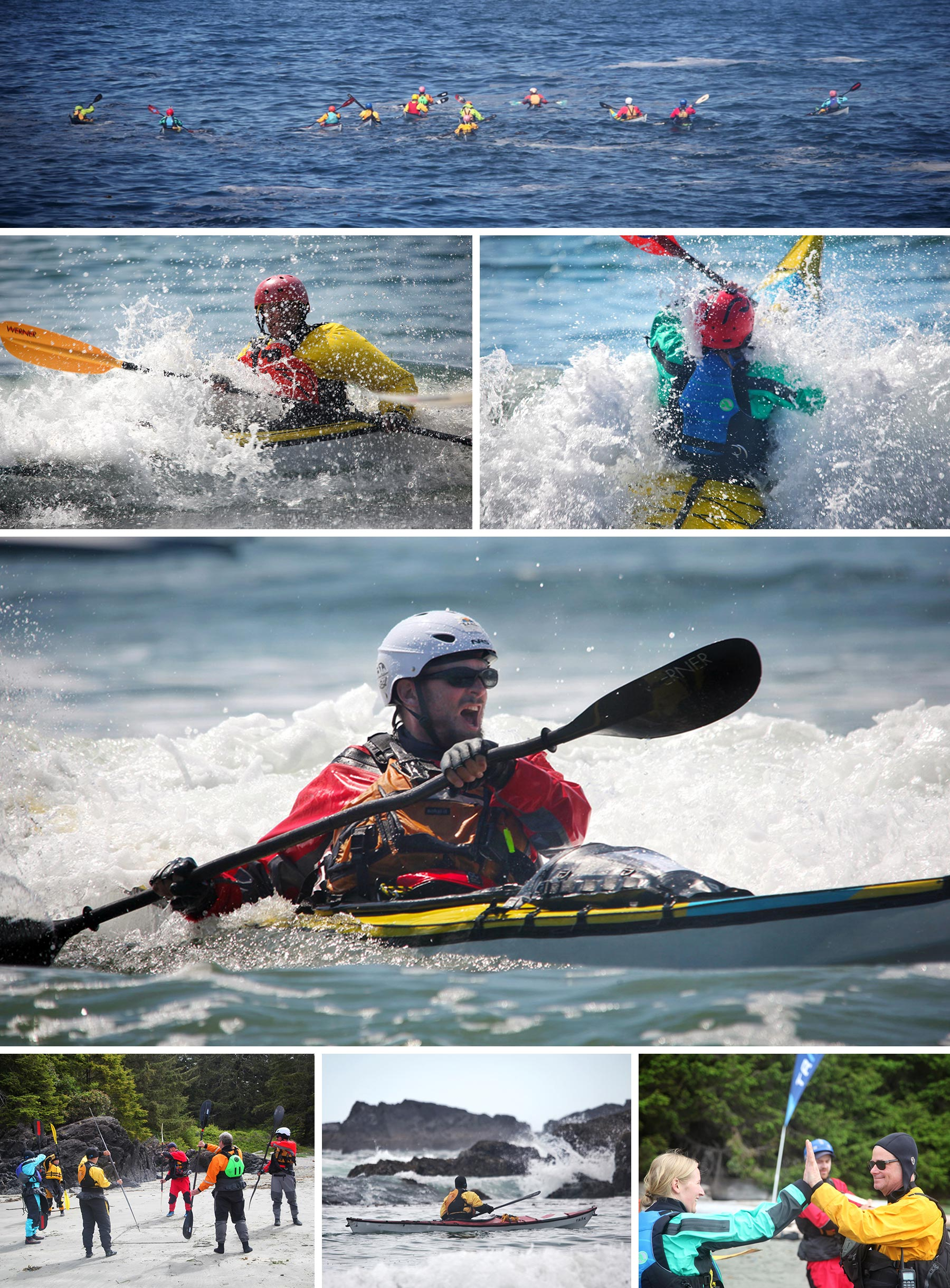 Participants from the TRAK Kayaks Pacific Rim Skills Camp 2019
